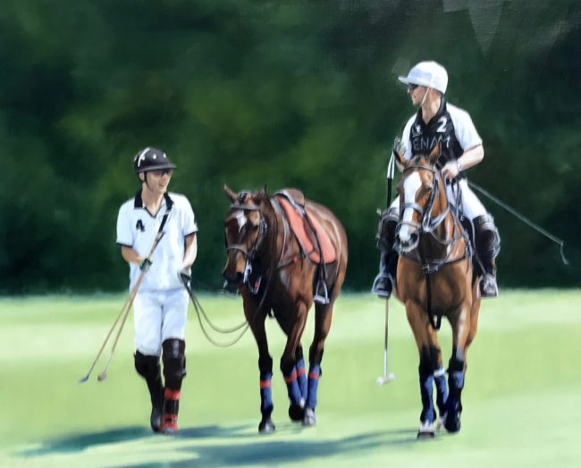 Lyn-Beaumont-artist-Equine-After-The-Game-For-sale