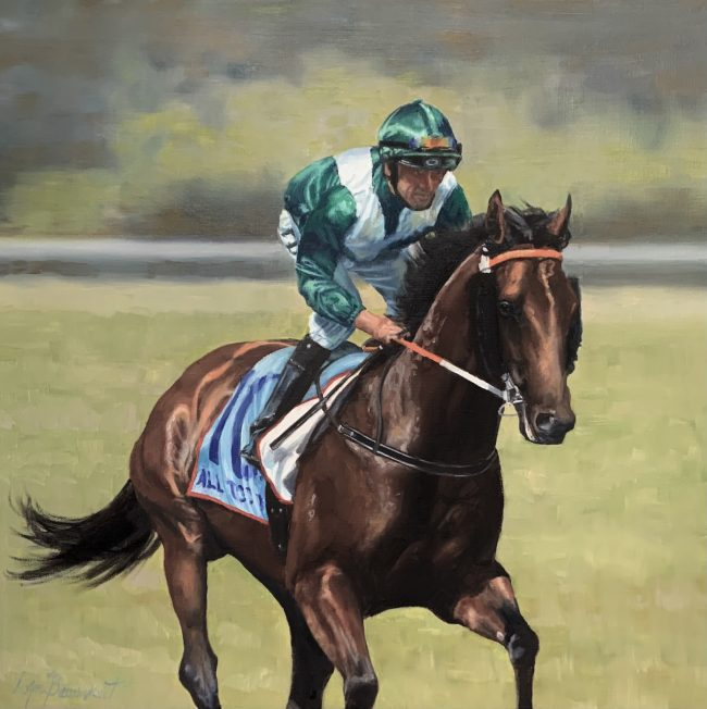 Lyn-Beaumont-artist-Equine-All-Too-Hard-60x60cm-Commission