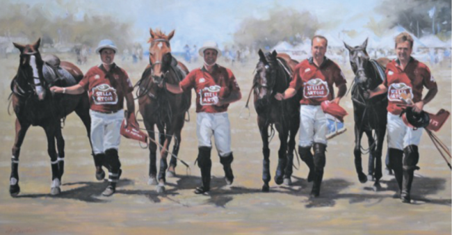 Lyn-Beaumont-artist-Equine-Polo-Portsea-Sold