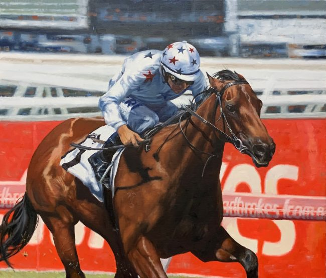 Lyn-Beaumont-artist-Equine-Sunlight-80x90cm-commission