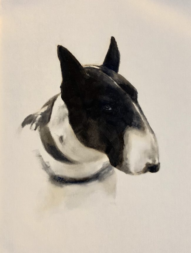 Lyn-Beaumont-artist-Oil-Sketches-Benny-30x40cm-Commission