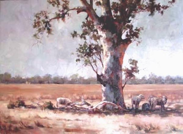 lyn-beaumont-equine-artist-landscapes-50x65cm-sold